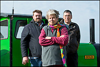 BNPS.co.uk (01202 558833)<br /> Pic: RachelAdams/BNPS<br /> <br /> l-r Chief engineer Alan Barnard, owner Joyce Faris, driver Ron<br /> <br /> There was outrage today after a family that has run one of Britain's first 'Noddy' land trains for 46 years were served with a notice to quit the service.<br /> <br /> The much-loved novelty train that carries people to a remote beach was started in 1968 by the late Roger Faris, who hand-built the carriages himself.<br /> <br /> Since his death 34 years ago his widow Joyce, 88, has operated the independent service for 364 days a year and runs it more as a hobby than a profitable business.<br /> <br /> The little train has been used by generations of people and become a popular fixture at the Hengistbury Head beauty spot in Dorset.<br /> <br /> Now after five decades of service, town hall officials have told Mrs Faris they will not be renewing their contract with her as they intend to operate their own train service.