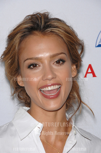 Jessica Alba at a fund-raising gala to benefit Padres Contra El Cåncer (parents against cancer) at The Lot, Hollywood..October 19, 2007  Los Angeles, CA.Picture: Paul Smith / Featureflash