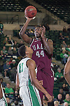 Arkansas Little Rock Trojans forward Michael Javes (44) in action during the game between the Arkansas Little Rock Trojans and the North Texas Mean Green at the Super Pit arena in Denton, Texas. UALR defeats UNT 62 to 57...