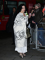 Bianca Jagger<br /> at National Portrait Gallery Gala 2019, London, England on 12 March 2019.<br /> CAP/JOR<br /> &copy;JOR/Capital Pictures