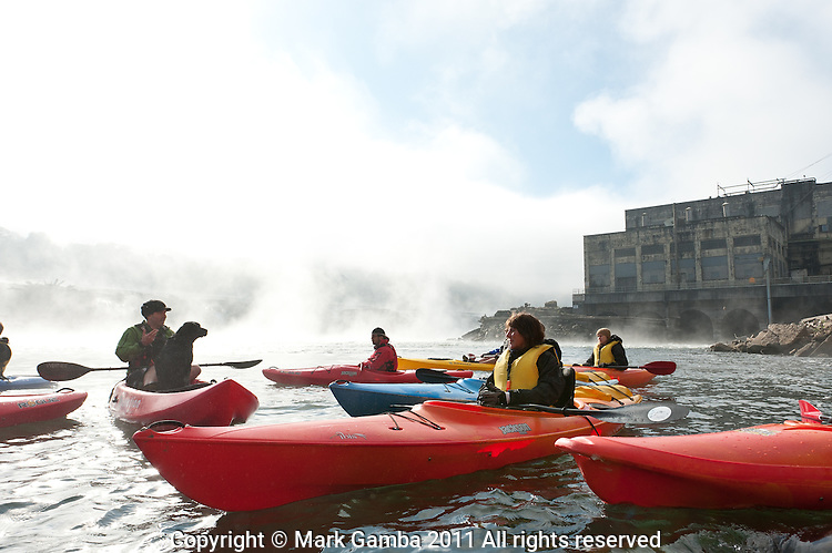 Kayak tour of the Willamette Falls area in Oregon City.