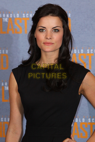 "Jaimie Alexander.Photocall for ""The Last Stand"", Hyatt Regency, Kennedy Ufer, Cologne, Germany..January 21st, 2013.half length dress black sleeveless.CAP/UNT.©Unit2/Capital Pictures"