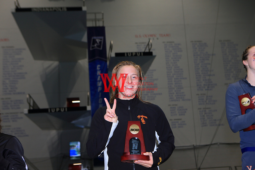 The University of Southern California women's swimming and diving team compete at the 2017 NCAA National Swimming and Diving Championships in Indianapolis, IN. March 18, 2017<br /> (Photo by Walt Middleton Photography 2017)