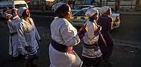 Inviting for a late afternoon church service in the streets of Nyanga, SA 2010