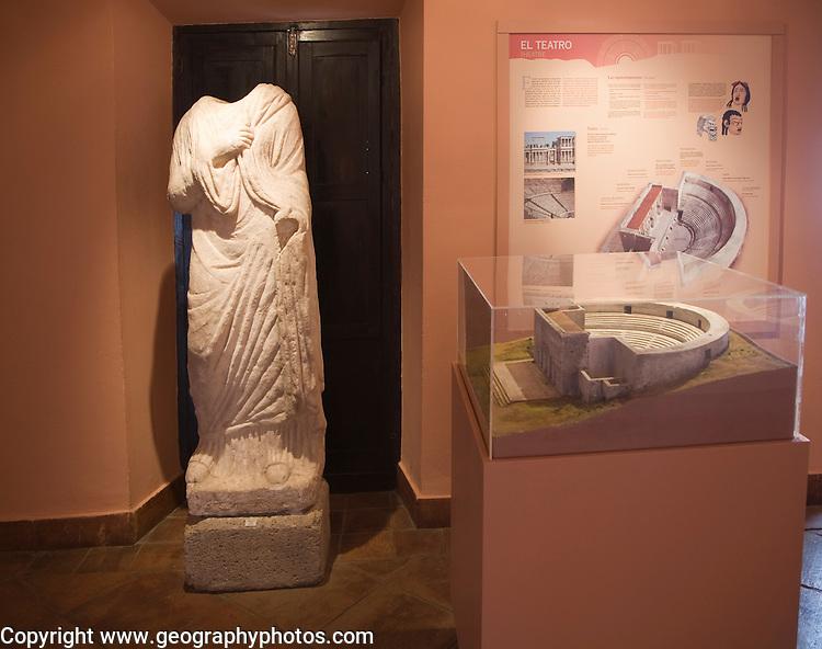 Roman display in the municipal city museum Ronda, Spain