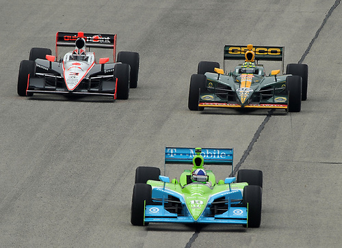 17-19 June 2011, West Allis, Wisconsin USA<br /> #10 Dario Franchitti with Castroneves and Kanaan.<br /> ©2011 Dan R. Boyd Lat Photo USA