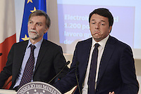 Roma, 1 Settembre 2014.<br /> Palazzo Chigi.<br /> Conferenza stampa di Matteo Renzi sui prossimi mille giorni del Governo e presentazione del sito web passodopopasso.italia.it.<br />  Matteo Renzi e Graziano Delrio.<br /> Government Renzi: 1000 days and the site passodopopasso.italia.it <br /> Rome, September 1, 2014.<br /> Chigi Palace.<br /> Press Conference of Matteo Renzi on the next one thousand days of Government and presentation of the website passodipopasso.italia.it.<br />  Matteo Renzi and Graziano Delrio.