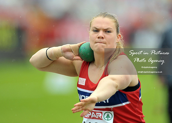 Kristin Sundsteigen (NOR). Womens shot put.  Day 2. European Team Athletics Championships. Gateshead. Tyne and Wear. UK. 23/06/2013. <br />  MANDATORY Credit Garry Bowden/SIPPA - NO UNAUTHORISED USE - 07837 394578