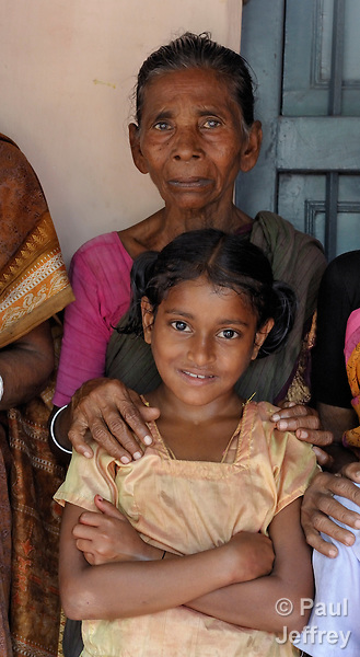 Varayanamma and her 11-year old granddaughter, Nagaraj, an HIV-positive orphan in Guntur, Andhra Pradesh, India. (See Special Instructions below.)