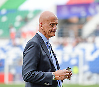 20160526 - REGGIO EMILIA , ITALY : italian former referee Pierluigi Collina pictured during a womensoccer match between the teams of  VFL Wolfsburg Frauen and Olympique Lyon , during the final of the Uefa Women Champions League 2015 - 2016 in Stadio citta del tricolore Stadium , Reggio Nell Emilia - Italy , Thursday 26 May 2016 . PHOTO SPORTPIX.BE / DAVID CATRY