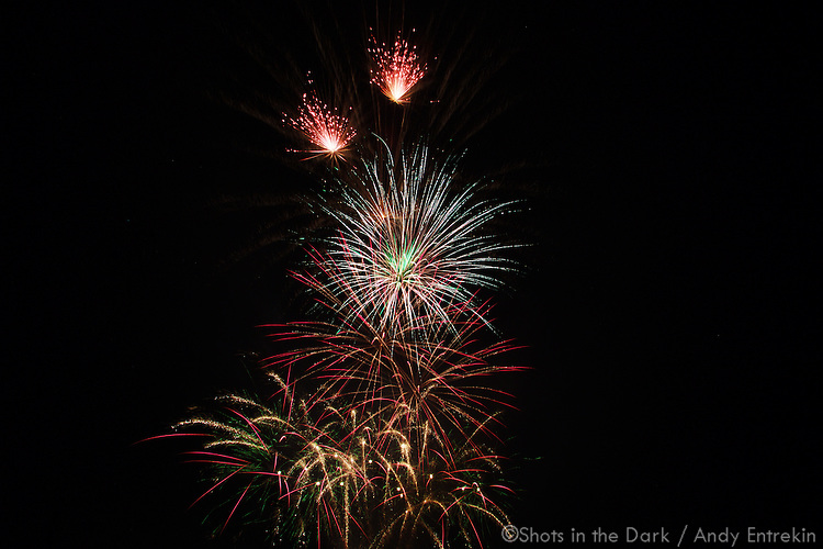 Fireworks at Big League Dreams in Mansfield TX - July 4, 2010