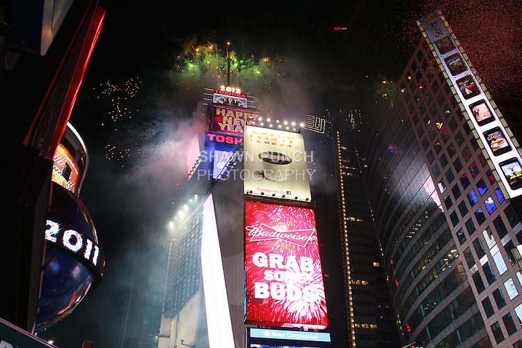 New Year's Eve 2012 celebration in Times Square, New York City - December 31, 2011.