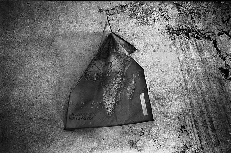 La cartina geografica dell'Africa nell'aula dell'ex carcere San Donnino di Como