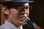 DC Stage, Kaohsiung -- Vocalist Jack Yeh belting a Louis Armstrong tune into the microphone.