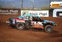 Apr 15, 2011; Surprise, AZ USA; LOORRS driver Curt Leduc (43) during round 3 and 4 at Speedworld Off Road Park. Mandatory Credit: Mark J. Rebilas-.
