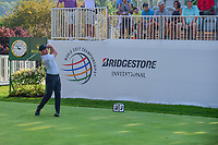 Paul Casey (ENG) on the 1st tee during the first round of the WGC Bridgestone Invitational, Firestone country club, Akron, Ohio, USA. 03/08/2017.<br /> Picture Ken Murray / Golffile.ie<br /> <br /> All photo usage must carry mandatory copyright credit (&copy; Golffile | Ken Murray)