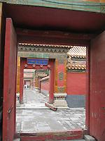 Doorways in the Forbidden Palace, Beijing, China
