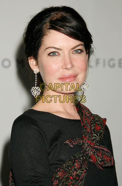 "LARA FLYNN BOYLE.14th Annual Race to Erase MS Themed ""Dance to Erase MS"" held at the Century Plaza Hotel, Century City, California, USA, 13 April 2007..portrait headshot black dress dangly earrings red print scarf.CAP/ADM/RE.©Russ Elliot/AdMedia/Capital Pictures."