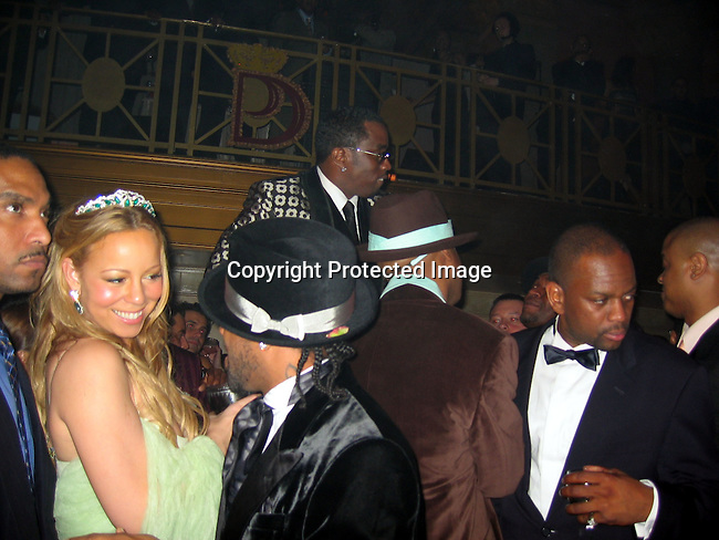 Mariah Carey with Jermaine Dupri &amp; Sean P. Diddy Combs<br />