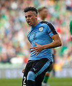 June 4th 2017, Aviva Stadium, Dublin, Ireland; International football friendly, Republic of Ireland versus Uruguay; Jose Gimenez celebrates scoring the equalising goal for Uruguay in the 38th minute, 1-1