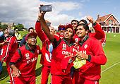 ICC World T20 Qualifier - GROUP B MATCH - Afghanistan v Oman at Heriots CC, Edinburgh - Oman win with a selfie — credit @ICC/Donald MacLeod - 15.07.15 - 07702 319 738 -clanmacleod@btinternet.com - www.donald-macleod.com