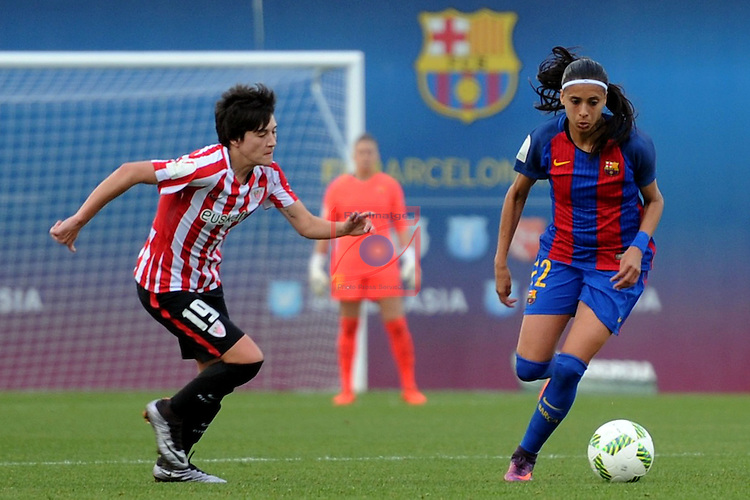 Spanish Women's Football League Iberdrola 2016/17 - Game: 11.<br /> FC Barcelona vs Athletic Club: 2-1.<br /> Erika Vazquez vs Andressa Alves.