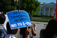 "July 26, 2011 (Washington, DC)   A rally for immigration reform took place in front of the White House in Washington on July 23, 2011.  More than 2,000 people protested the lack of immigration reform in the United States.  According to CASA de Maryland, which co-sponsored the protest, more than one million deportations have occurred since President Obama took office. Congressman Luis Gutierrez (D-Ill) and 10 other people were arrested. Gutierrez says that ""Republicans are blocking immigration reform, but it doesn't get [Obama] off the hook"".    (Photo: Don Baxter/Media Images International)"