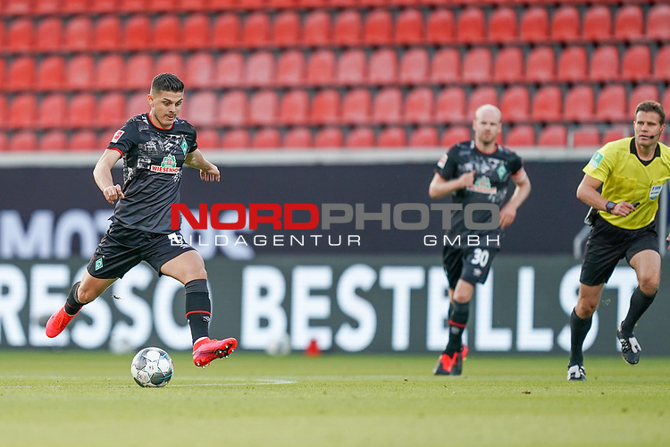 Milot Rashica (Werder Bremen #07)<br /> <br /> <br /> Sport: nphgm001: Fussball: 1. Bundesliga: Saison 19/20: Relegation 02; 1.FC Heidenheim vs SV Werder Bremen - 06.07.2020<br /> <br /> Foto: gumzmedia/nordphoto/POOL <br /> <br /> DFL regulations prohibit any use of photographs as image sequences and/or quasi-video.<br /> EDITORIAL USE ONLY<br /> National and international News-Agencies OUT.