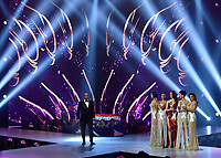 BANGKOK, THAILAND - DECEMBER 17: 2018 MISS UNIVERSE: Steve Harvey and contestants onstage on the 2018 MISS UNIVERSE competition at the Impact Arena in Bangkok, Thailand on December 17, 2018. (Photo by Frank Micelotta/FOX/PictureGroup)