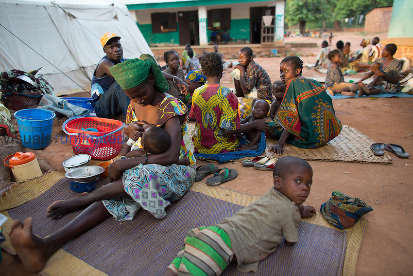 Sick patients at MSF hospital, Central African Republic