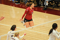 STANFORD, CA - OCTOBER 31: Gabi Ailes of the Stanford Cardinal during Stanford's 25-22, 25-23, 25-18 win against the Washington Huskies on October 31, 2008 at Maples Pavilion in Stanford, California.