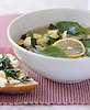Vegetable Soup with Herbed Ricotta Bread