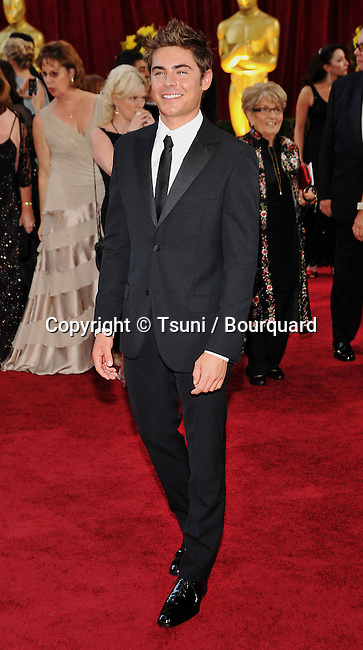 Zac Efron _24   -<br /> 82nd Academy Awards arrival at the Kodak Theatre In Los Angeles.