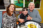 Patrick and Elaine Bowler and Eva Brown enjoying the evening out in the Brogue Inn on Saturday