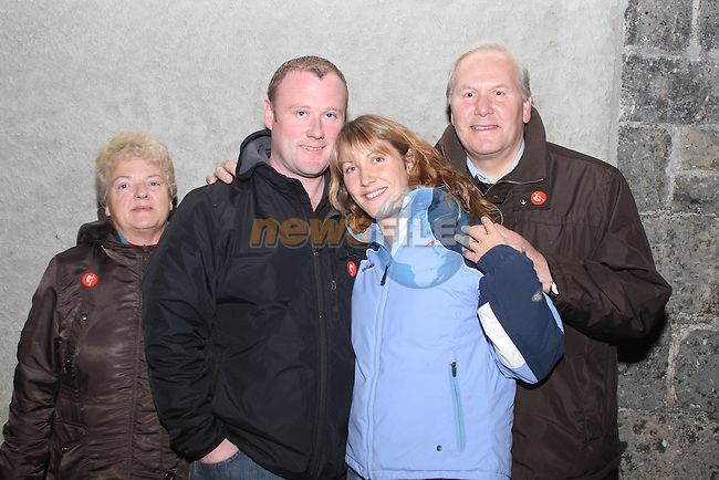 Jacinta Smith, James Nolan, Rachel Nolan and Ronan Smith at the Ghost Tour of Oldbridge House..(Photo credit should read Jenny Matthews www.newsfile.ie)....This Picture has been sent you under the condtions enclosed by:.Newsfile Ltd..The Studio,.Millmount Abbey,.Drogheda,.Co Meath..Ireland..Tel: +353(0)41-9871240.Fax: +353(0)41-9871260.GSM: +353(0)86-2500958.email: pictures@newsfile.ie.www.newsfile.ie.