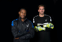 Brendan May & Goalkeeper Scott Brown during the PEAK Elite Sportswear Photoshoot at Wycombe Training Ground, High Wycombe, England on 1 August 2017. Photo by PRiME Media Images.