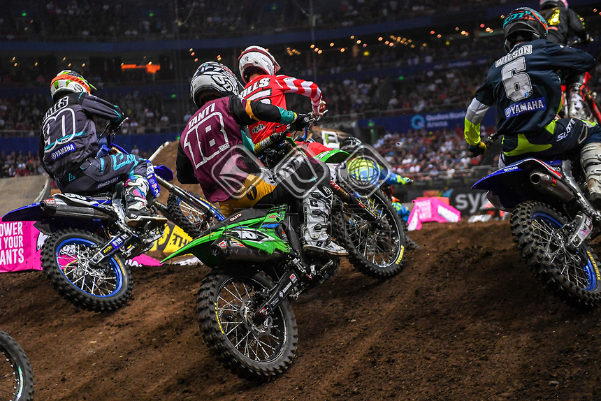 SX 2 / Aaron Tanti <br /> 2018 SX Open - Sydney <br /> Australian Supercross Championships<br /> Qudos Bank Area / Sydney Aus<br /> Saturday Nov 10th 2018<br /> © Sport the library/ Jeff Crow / AME