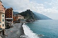 Italy; Italia, Liguria; Camogli; Italian Riviera, Beach