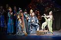 London, UK. 01.04.2014. The Kolobov Novaya Opera presents PRINCE IGOR at the London Coliseum. Picture shows: Act II - Polovtsian Camp, with Prince Igor (Sergey Artamonov - centre). Photograph © Jane Hobson.