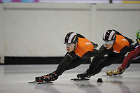 SCHAATSEN: HEERENVEEN: 31-01-2014, IJsstadion Thialf, Training Topsport, Sjinkie Knegt, Christiaan Bökkerink, ©foto Martin de Jong