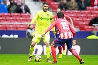 Atletico de Madrid's Stefan Savic (r) and Getafe CF's Lucas Hernandez during La Liga match. January 6,2018. (ALTERPHOTOS/Acero) /NortePhoto.com NORTEPHOTOMEXICO