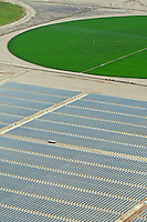 San Luis Valley, Colorado crop circles. Solar power plant. August 2011