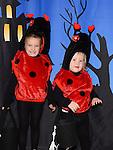 Ruth White and Zoe Doran enjoying the Halloween fun in Scotch Hall. Photo:Colin Bell/pressphotos.ie