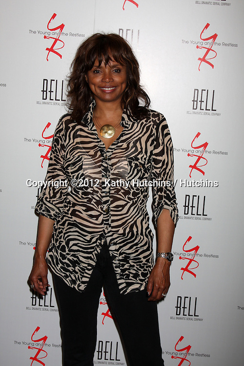 LOS ANGELES - MAR 16:  Debbi Morgan arrives at the Young & Restless 39th Anniversary Party hosted by the Bell Family at the Palihouse on March 16, 2012 in West Hollywood, CA