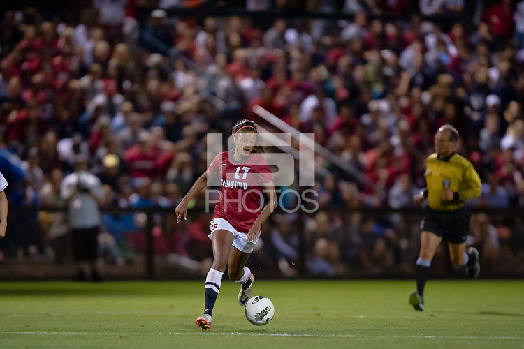 STANFORD, CA - SEPTEMBER 24: Stanford defeats Arizona 7-0 in a women's soccer match on September 24, 2011 in Stanford, California.
