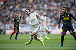 Isco Alarcon of Real Madrid fights for the ball with Jose Antonio Reyes Calderon of RCD Espanyol during the match Real Madrid vs RCD Espanyol, a La Liga match at the Santiago Bernabeu Stadium on 18 February 2017 in Madrid, Spain. Photo by Diego Gonzalez Souto / Power Sport Images