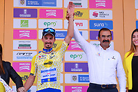 LA UNION - COLOMBIA, 16-02-2019: Julian ALAPHILIPPE (FRA), Deceuninck - Quick Step Floors, celebra como líder de los puntos después de la la quinta etapa del Tour Colombia 2.1 2019 con un recorrido de 176.8 Km, que se corrió con salida y llegada en La Union, Antioquia. / Julian ALAPHILIPPE (FRA), Deceuninck - Quick Step Floors, celebrates as points leader after of the fifth stage of 176.8 km of Tour Colombia 2.1 2019 that ran with start and arrival in La Union, Antioquia.  Photo: VizzorImage / Eder Garces / Fedeciclismo Prensa / Cont