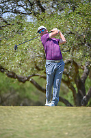 Kyle Thompson (USA) watches his tee shot on 2 during Round 1 of the Valero Texas Open, AT&amp;T Oaks Course, TPC San Antonio, San Antonio, Texas, USA. 4/19/2018.<br /> Picture: Golffile | Ken Murray<br /> <br /> <br /> All photo usage must carry mandatory copyright credit (&copy; Golffile | Ken Murray)