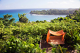 JAMAICA, Port Antonio. View of the coastline at the Geejam Hotel.