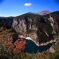 Detail of the canyon of Piva in the Durmitor National Park, Montenegro. The Durmitor is a national park since 1952, protected by UNESCO since 1977, and World Heritage Site since 1980